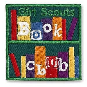 BOOK CLUB PATCH | Girl scout patches, Girl scout badges, Girl scout fun  patches